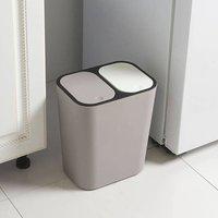 Recycling Bin 12L Double Dustbin Lid Dual Kitchen Dust Rubbi