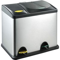 RecyQ Recycling Bin with Lids for Kitchen / 26 Litre Capacity / 2 Compartments Waste Separation (26L (8L+18L))