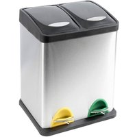 Recycling Bin with Lids for Kitchen / 30 Litre Capacity / 2