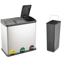 RecyQ Recycling Bin with Lids for Kitchen / 45 Litre Capacit
