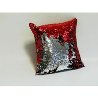 Danni Red Cushion Cover 17 x 17 Bed Sofa Accessory Unfilled