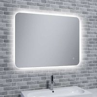 Reflections Rona Slim, Illuminated LED Mirror With Mood Light with Demister, 50cm x 70cm