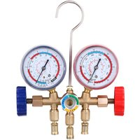 Briday - Refrigerant Manifold Gauge Air Conditioning Refrigeration Assembly Air Conditioning Tools with Hose and Hook for R12 R22 R404A R134A