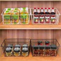 Bearsu - Refrigerator Freezer Baskets Wire Storage Baskets Bin Organizer Food,Kitchen, Basket Organizers Bins for Home, Bathroom, Closet