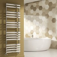 Arbori Designer Heated Towel Rail 1130mm H x 500mm W Chrome - Reina