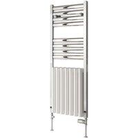Burton Radiator Heated Towel Rail 1180mm H x 485mm W White Polished - Reina