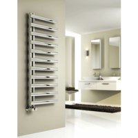 Reina Cavo 1580 x 500mm Stainless Steel Vertical Towel Rail and Radiator - Brushed