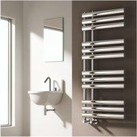 Reina Chisa Designer Heated Towel Rail 1130mm H x 500mm W Chrome