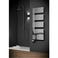 Reina Entice 1700 x 500mm Stainless Steel Modern Vertical Bathroom Towel Rail and Radiator - Brushed