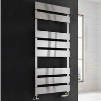 Fermo Flat Panel Heated Towel Rail 1550mm H x 480mm W Satin - Reina