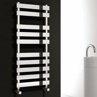 Reina Kreon Flat Panel Heated Towel Rail 1160mm H x 500mm W Polished Stainless Steel