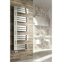 Reina Lovere 1230 x 500mm Stainless Steel Vertical Bathroom Panelled Towel Rail and Radiator - Polished