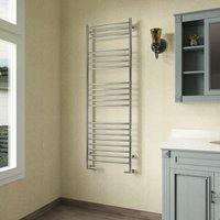 Luna Straight Heated Towel Rail 1500mm H x 500mm W Stainless Steel - Reina