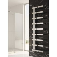Piazza Designer Heated Towel Rail 1270mm H x 500mm W Polished - Reina