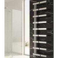 Piazza Designer Heated Towel Rail 870mm H x 500mm W Polished - Reina