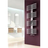 Reina Sorento 800 x 600mm Stainless Steel Modern Vertical Bathroom Towel Rail and Radiator - Polished