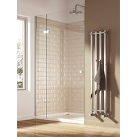 Reina Todi 1200 x 260mm Steel Modern Vertical Bathroom Towel Rail and Radiator - Chrome