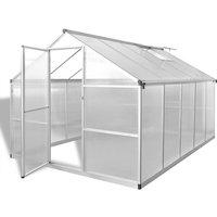 Reinforced Aluminium Greenhouse with Base Frame 7.55 m² - Transparent - Vidaxl