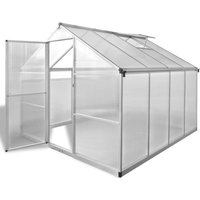 Reinforced Aluminium Greenhouse with Base Frame 6.05 m²