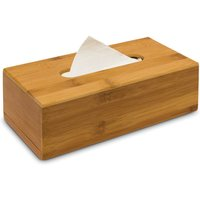 Bamboo Tissue Box 7.5 x 24 x 12 cm with Removable Bottom Natural Wooden Tissue Holder for Standard Tissue Paper and Wipes Boxes, Rectangular Tissue