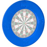 Darts Catchring R7, 4-Piece, Safety Surround for 45 cm Dartboards, Wall Protection, EVA, Ø 72 cm, Multicolour - Relaxdays