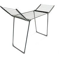 Relaxdays Foldable Clothes Drying Rack, Indoor and Outdoor Use Folding Laundry Horse Airer Total Line Length: 13 m
