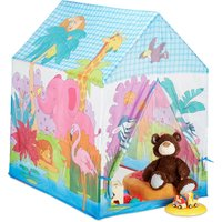 Relaxdays Jungle Animals Play Tent for your Children's Room, Outdoor