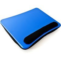 Laptop Cushion, Lapdesk, Notebook Stand or Travel Desk, Blue - Relaxdays