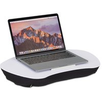 Relaxdays Laptop Stand with Cushion, Wooden Support, Soft Material, Portable, Lap Tray: 52 x 33 cm, Various Colours