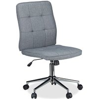 Office Desk Chair, Height-Adjustable Swivel Chair, Comfortable, 120 kg Capacity, HWD: 104 x 60 x 60 cm, Gray - Relaxdays