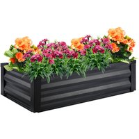 raised planter, flower bed, made of steel, 122 x 68 x 30 cm