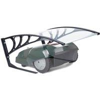 Robotic Lawn Mower Garage, UV-Protection, Weatherproof, HxWxD 47x82x102 cm, Polycarbonate, Transparent - Relaxdays
