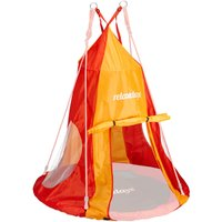 Tent For Swing Nest, Cover for Swinging Seat Disc, Hanging Swivel Chair Accessory, 110 cm, Red/Orange - Relaxdays