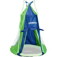 Tent For Swing Nest, Cover for Swinging Seat Disc, Hanging Swivel Chair Accessory, 90 cm, Blue/Green - Relaxdays