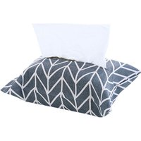 Removable cotton and linen cloth art tissue storage bag, gray branches