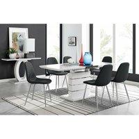 Furniturebox Uk - Renato High Gloss Extending Dining Table