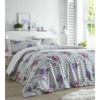 Renee Heather Super King Size Duvet Cover Set Bedding Quilt