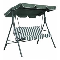 Replacement Canopy For Swing Seat Garden Hammock Cover 114 x 168cm Green - COSTWAY
