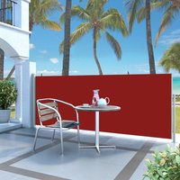 Retractable Side Awning 120 x 300 cm Red - YOUTHUP