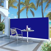 Retractable Side Awning 140 x 300 cm Blue