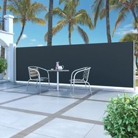 Retractable Side Awning 160 x 500 cm Black - Black