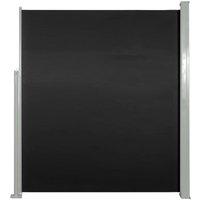 vidaXL Retractable Side Awning 160 x 500 cm Black - Black