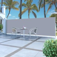 Retractable Side Awning 160 x 500 cm Grey - Grey