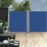Retractable Side Awning Blue 160x600 cm - Blue