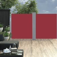 Retractable Side Awning Red 160x600 cm - Red - Vidaxl