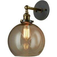 Briday - Retro Industrial Wall Sconce Ball Lamp Minimalist Glass Vintage Edison Style E27 Socket Home Decoration Bar Kitchen Living Room Restaurants