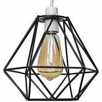 Metal Basket Cage Ceiling Pendant Light Shade - Black - MINI