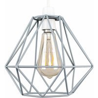 Metal Basket Cage Ceiling Pendant Light Shade - Grey - MINIS