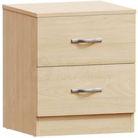 Home Discount - Riano 2 Drawer Bedside Chest, Pine