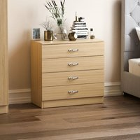Home Discount - Riano 4 Drawer Chest, Pine